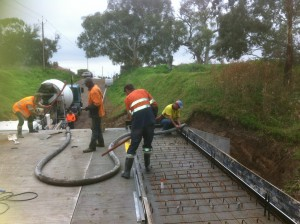 concrete pour concrete pump bridge deck mace engineering