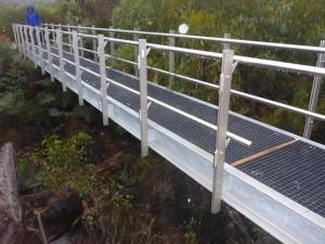 steel framed pedestrian bridge mace engineering